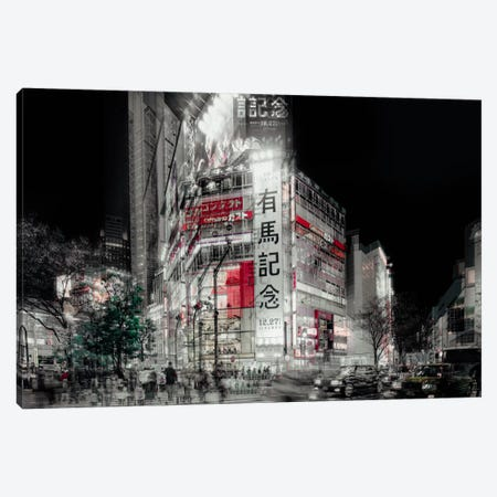 Street Life In Tokyo Canvas Print #OXM2515} by Carmine Chiriaco Canvas Art Print
