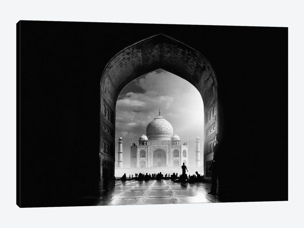 Taj Mahal by Hussain Buhligaha 1-piece Canvas Art Print