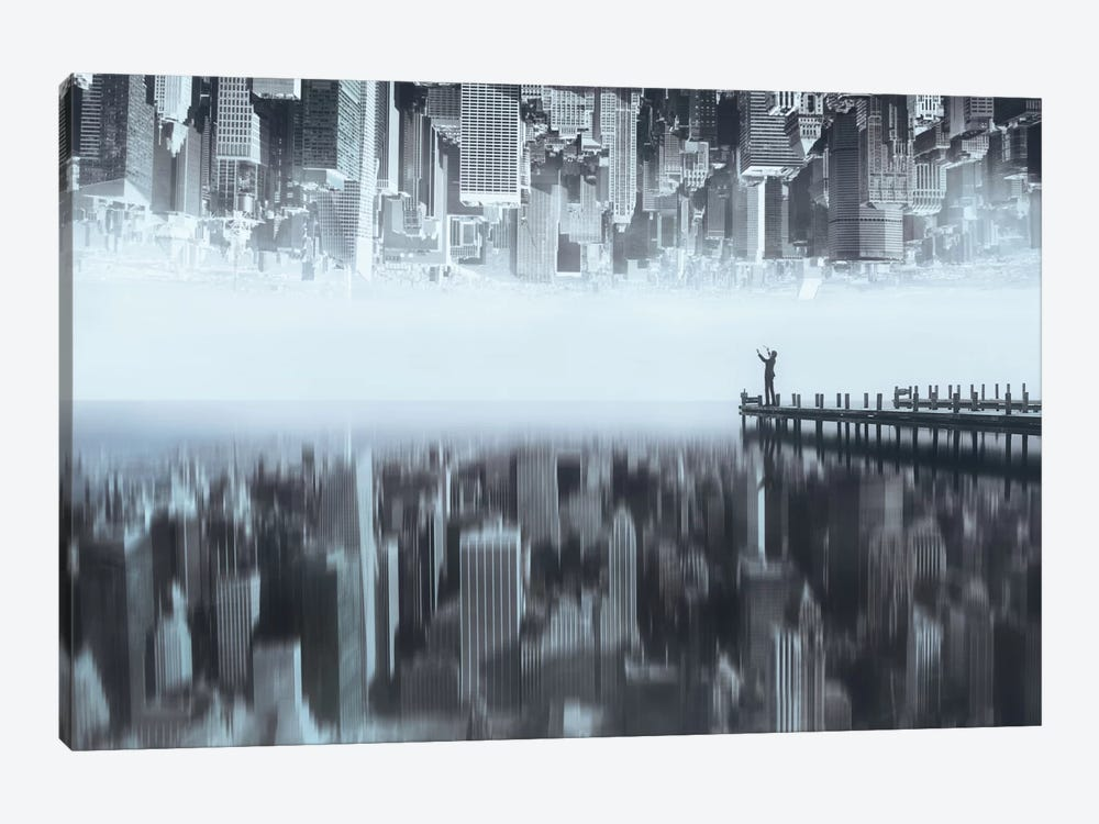 City Of Mirror by Terry F 1-piece Canvas Art Print