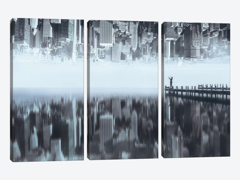 City Of Mirror by Terry F 3-piece Art Print