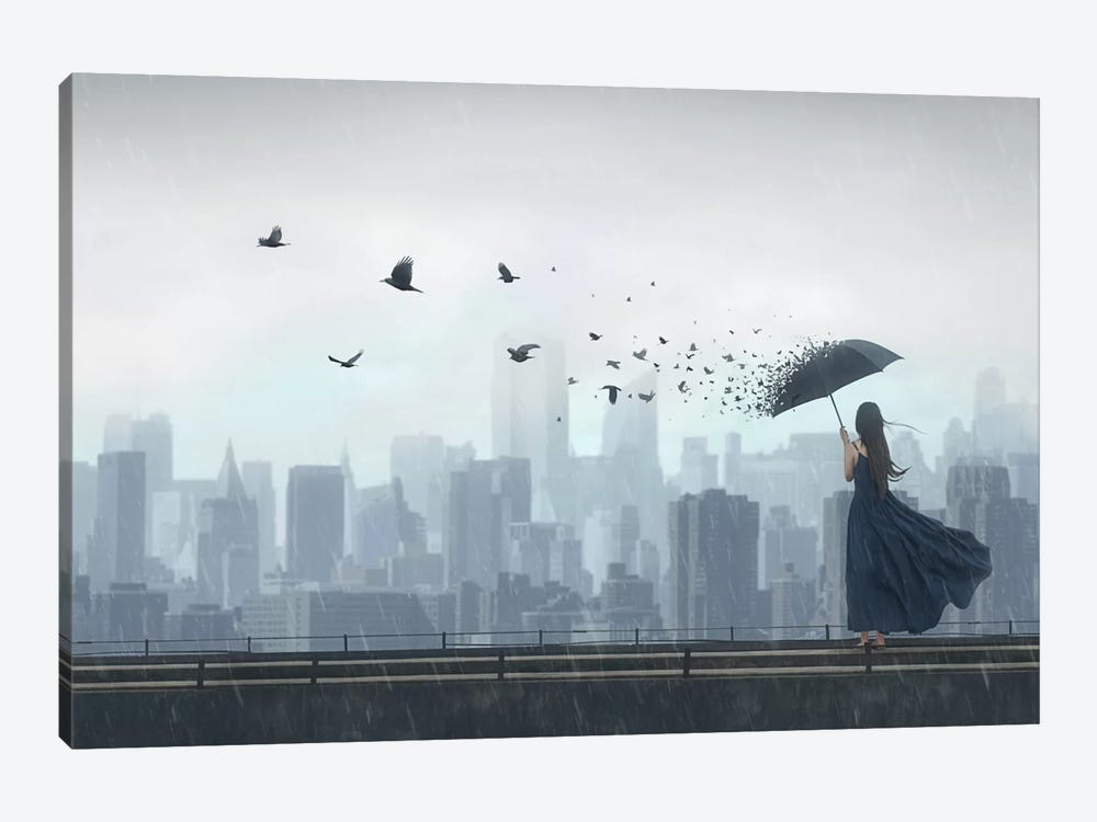 Fly Away by Terry F 1-piece Canvas Wall Art