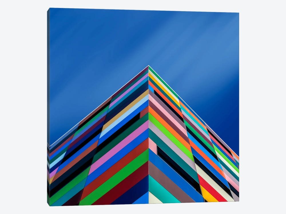 Color Pyramid by Alfonso Novillo 1-piece Canvas Art