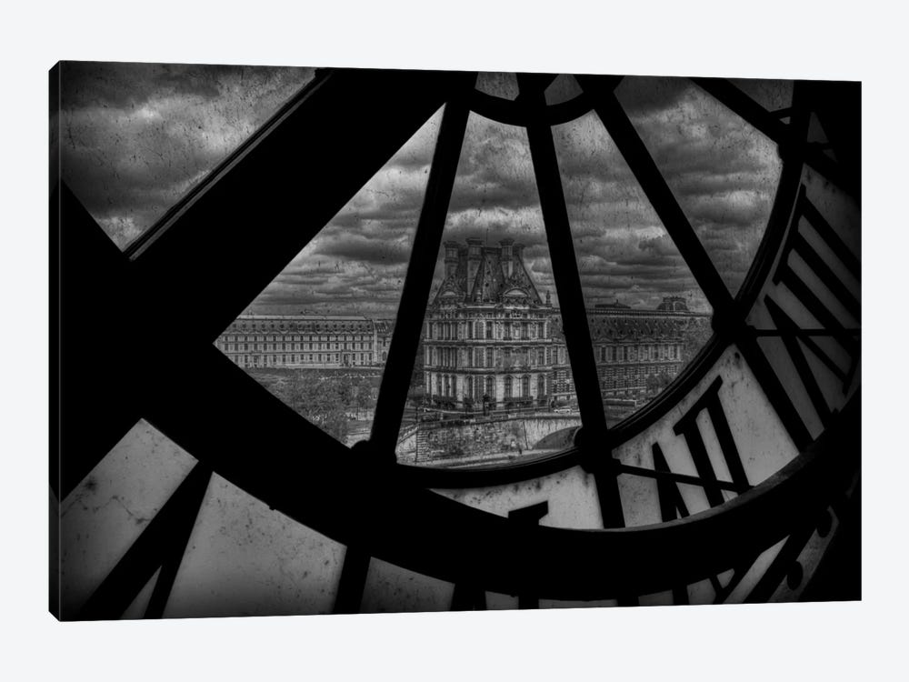 Behind The Clock by Christian Marcel 1-piece Art Print