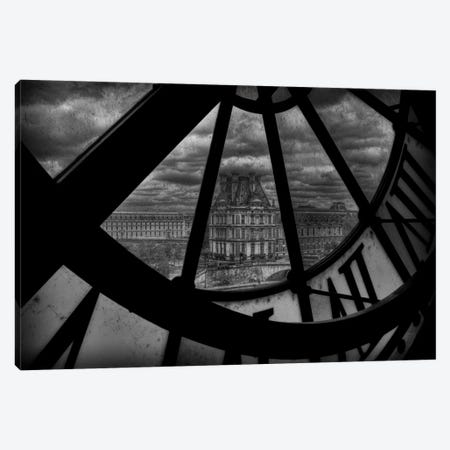 Behind The Clock Canvas Print #OXM2562} by Christian Marcel Canvas Print