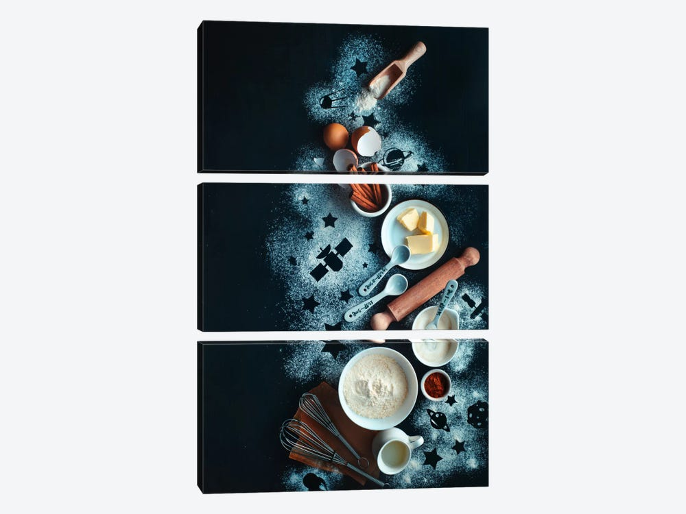 Baking For Stargazers by Dina Belenko 3-piece Art Print