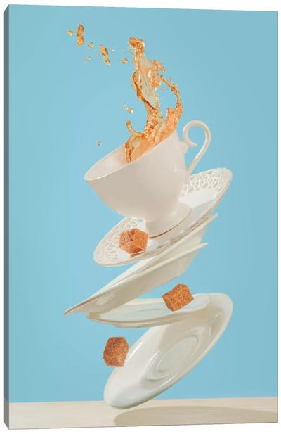 Coffee For A Stage Magician Canvas Art Print