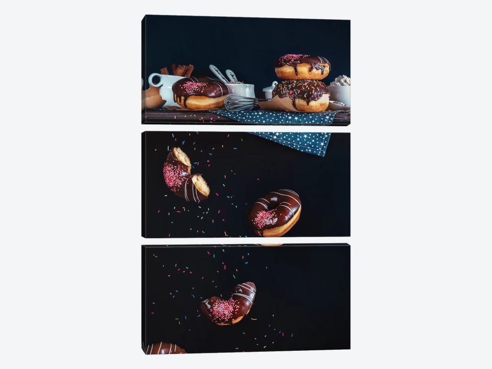 Donuts From The Top Shelf by Dina Belenko 3-piece Canvas Art