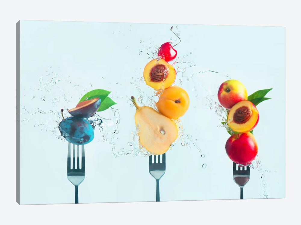 Making Fruit Salad by Dina Belenko 1-piece Canvas Wall Art