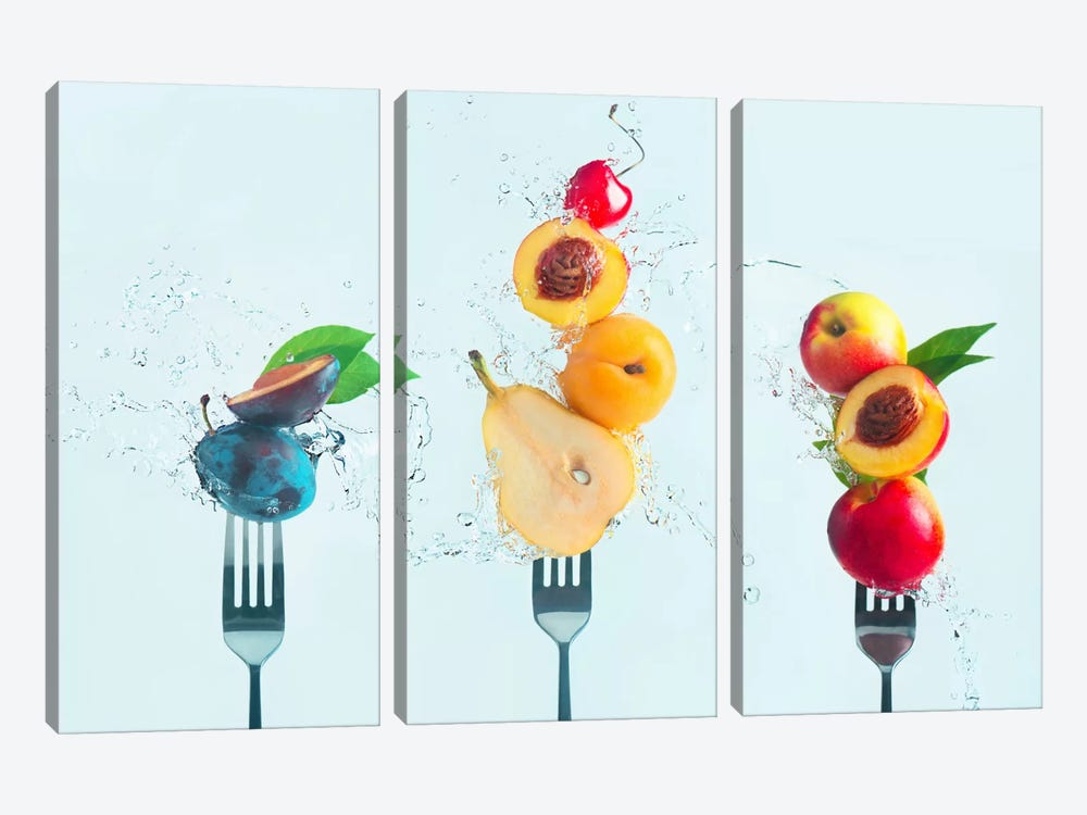 Making Fruit Salad by Dina Belenko 3-piece Canvas Wall Art