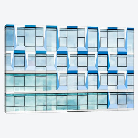 Blue Multiple Windows Canvas Print #OXM2590} by Greetje van Son Canvas Art