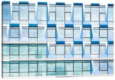 Blue Multiple Windows Canvas Art Print