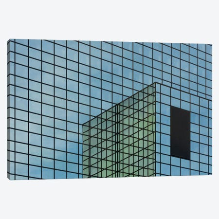 Façade In Blue Canvas Print #OXM2594} by Greetje van Son Art Print