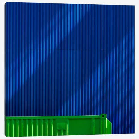 Green Against Blue Canvas Print #OXM2595} by Greetje van Son Canvas Art Print