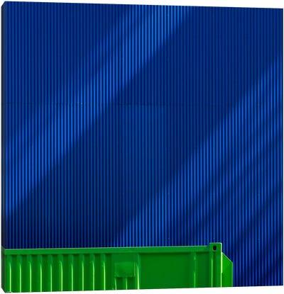 Green Against Blue Canvas Art Print