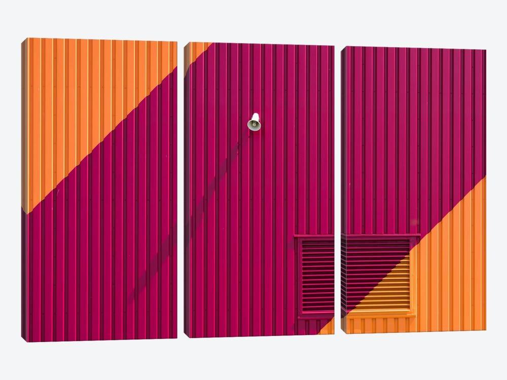 Orange Corners by Greetje van Son 3-piece Canvas Wall Art