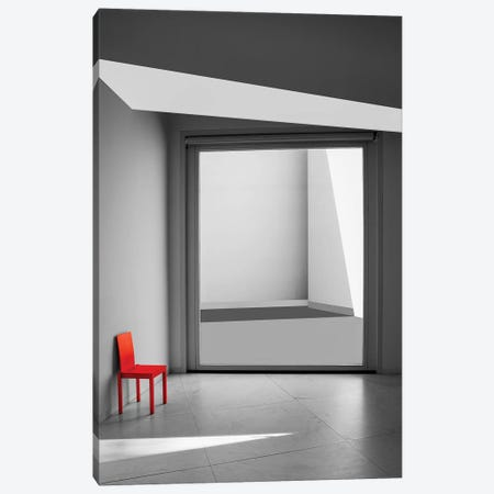 The Red Chair 3-Piece Canvas #OXM2608} by Inge Schuster Canvas Wall Art