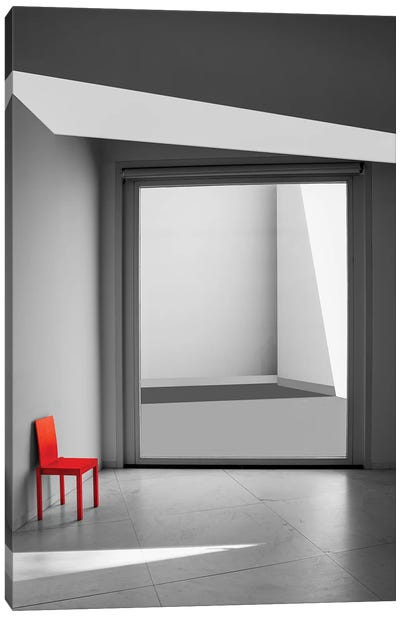 The Red Chair Canvas Art Print