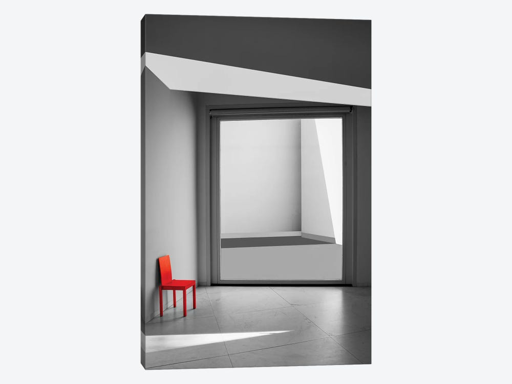 The Red Chair by Inge Schuster 1-piece Canvas Art Print