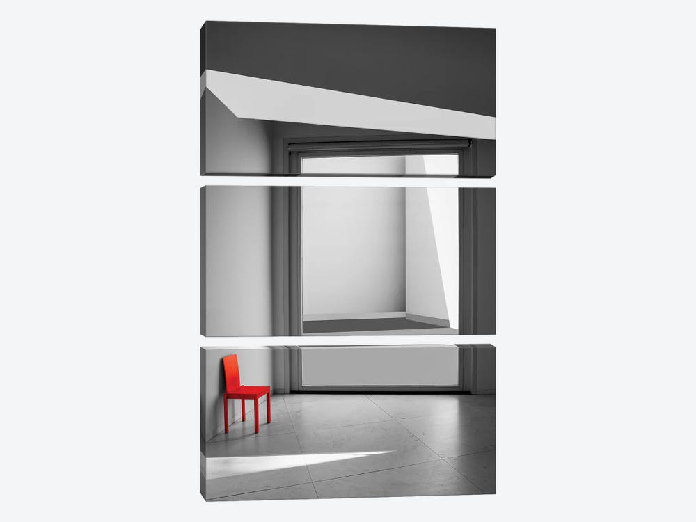 The Red Chair by Inge Schuster 3-piece Canvas Art Print