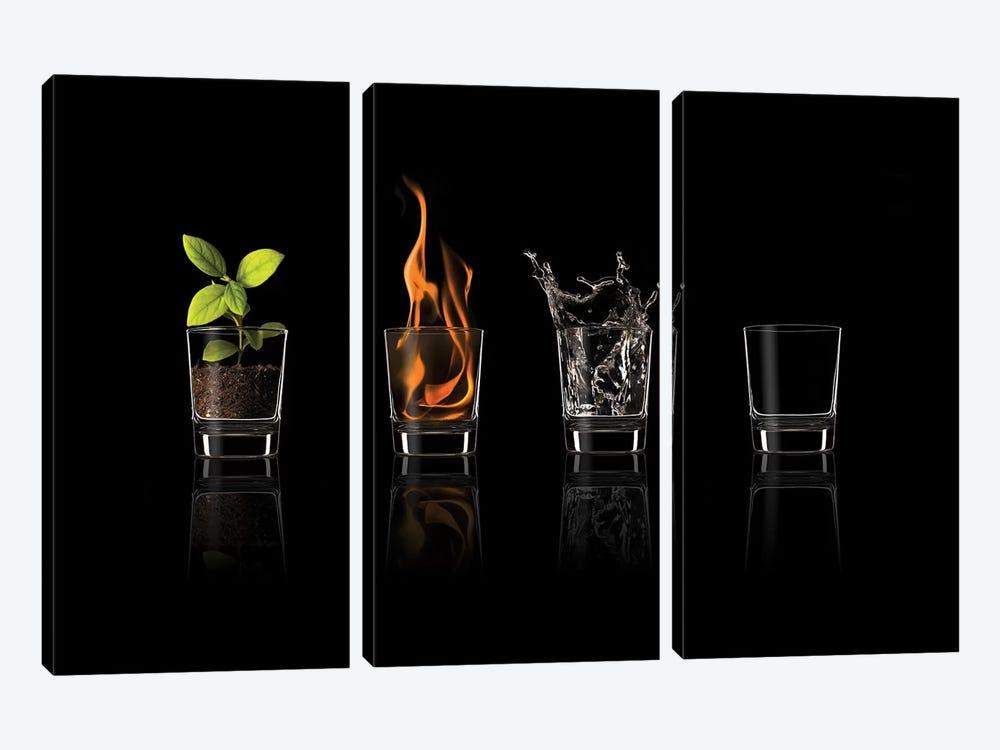 Elements... by Jose María Frutos 3-piece Canvas Art