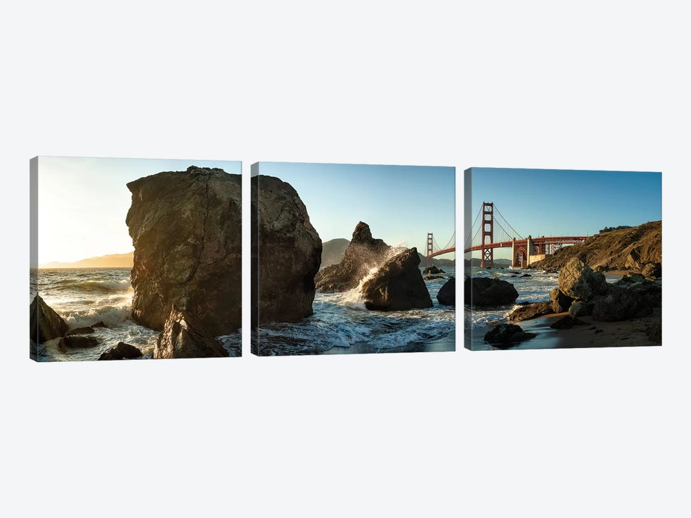 The Golden Gate Bridge by Michael Kaupp 3-piece Canvas Print
