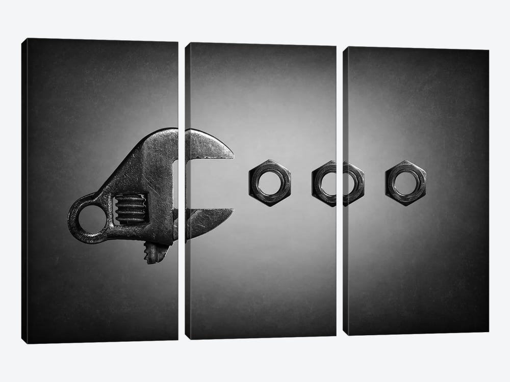 Pac-Man by Victoria Ivanova 3-piece Canvas Art Print