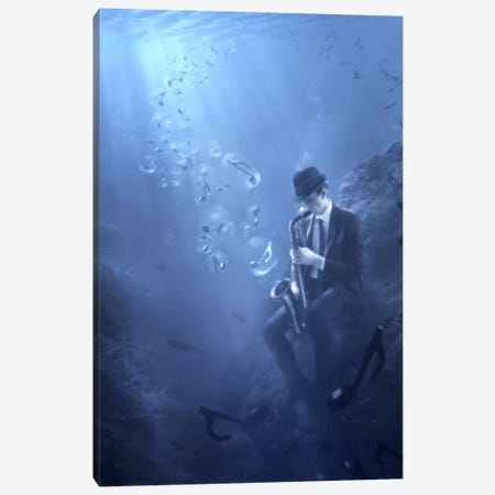 Blues Canvas Print #OXM2714} by Christophe Kiciak Canvas Print