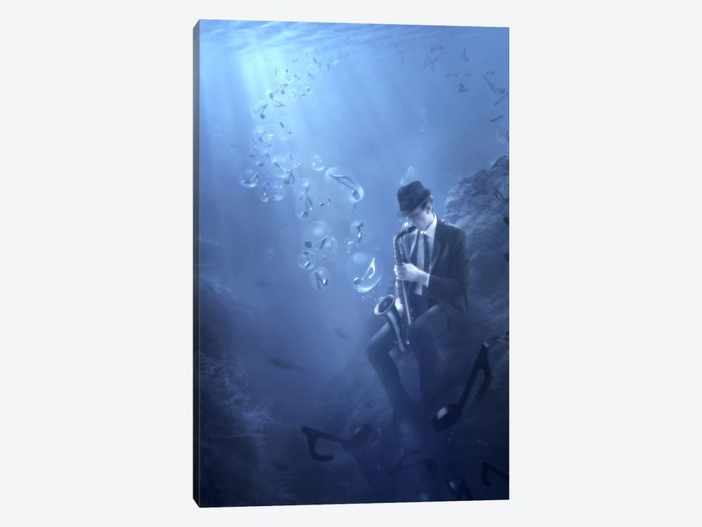 Blues by Christophe Kiciak 1-piece Canvas Art Print