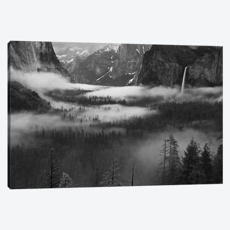 Fog Floating In Yosemite Valley Canvas Print #OXM2744} by Hong Zeng Canvas Artwork