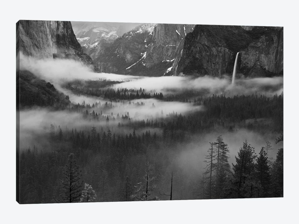 Fog Floating In Yosemite Valley by Hong Zeng 1-piece Canvas Artwork