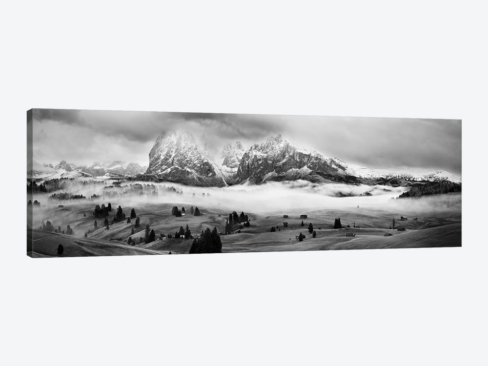 Foggy Dolomites by Marian Kuric 1-piece Canvas Print