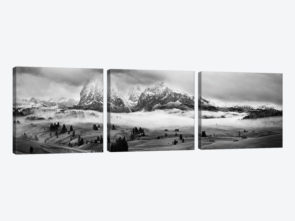 Foggy Dolomites by Marian Kuric 3-piece Canvas Print