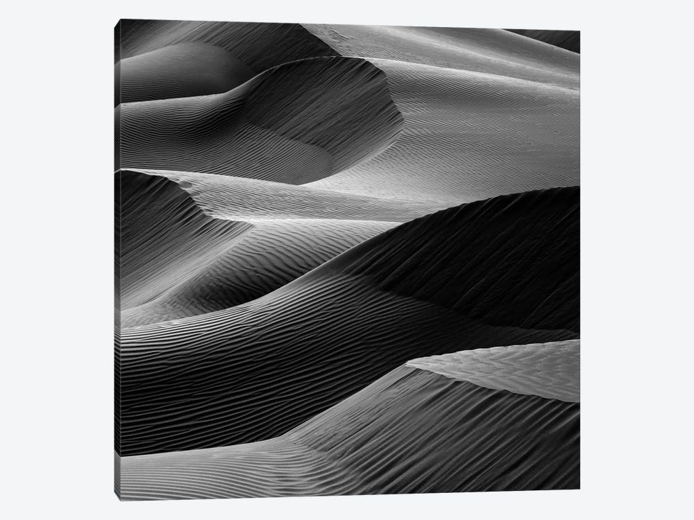 Waves In The Sand 1-piece Canvas Print