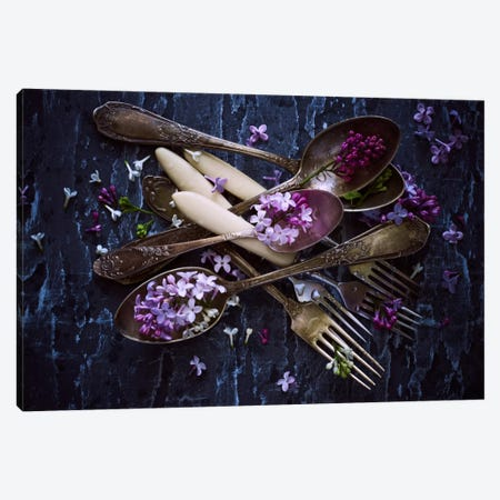 Spoons & Flowers Canvas Print #OXM2895} by Aleksandrova Karina Canvas Art