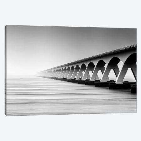 The Endless Bridge Canvas Print #OXM289} by Wim Denijs Canvas Art