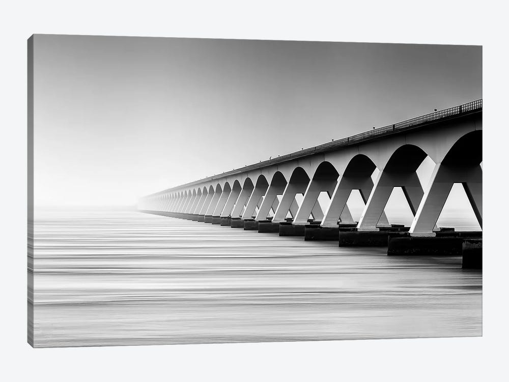The Endless Bridge 1-piece Canvas Print