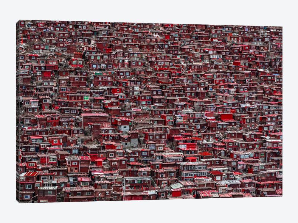 Red Houses by Ali Al-Jazeri 1-piece Canvas Artwork