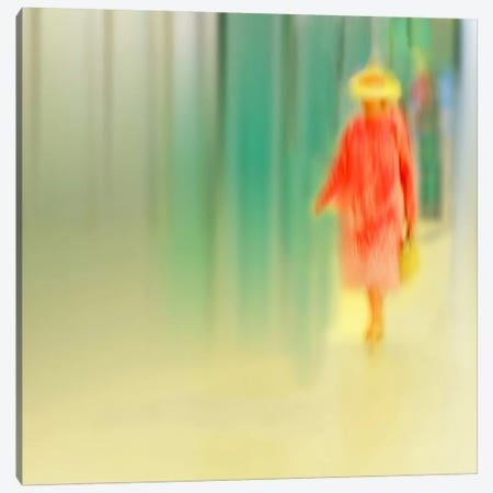 Dame In Rot Canvas Print #OXM2911} by Anette Ohlendorf Canvas Artwork