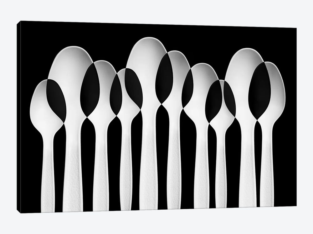 Spoons Abstract: Forest by Jacqueline Hammer 1-piece Canvas Artwork