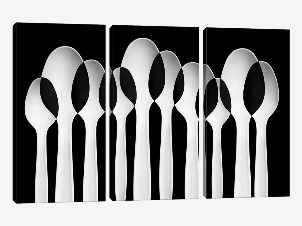 Spoons Abstract: Forest by Jacqueline Hammer 3-piece Canvas Art