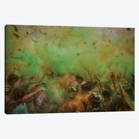 Paint Fight Canvas Print #OXM292} by Luke Canvas Art Print