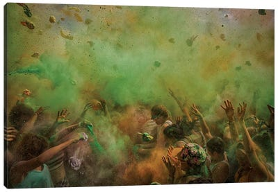Paint Fight Canvas Art Print