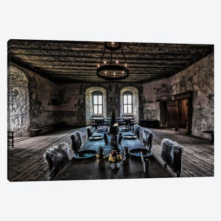 Torpa Stone House Canvas Print #OXM2930} by Benny Pettersson Canvas Artwork