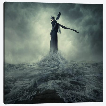 Queen Of The Darkness Canvas Print #OXM293} by hardibudi Canvas Art Print