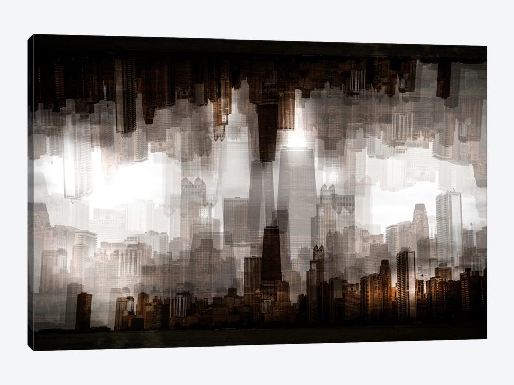 Chicago Skyline by Carmine Chiriaco 1-piece Canvas Wall Art