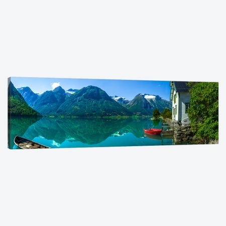 The Glacier Lake Canvas Print #OXM2949} by Christer Olsen Canvas Print