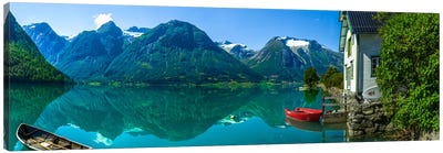 The Glacier Lake Canvas Art Print