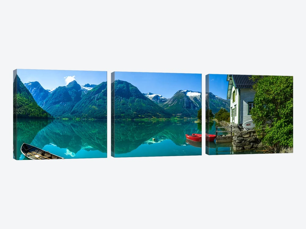 The Glacier Lake by Christer Olsen 3-piece Canvas Art