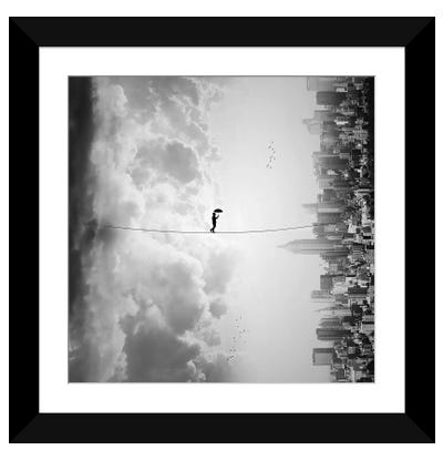 Crossing Framed Art Print