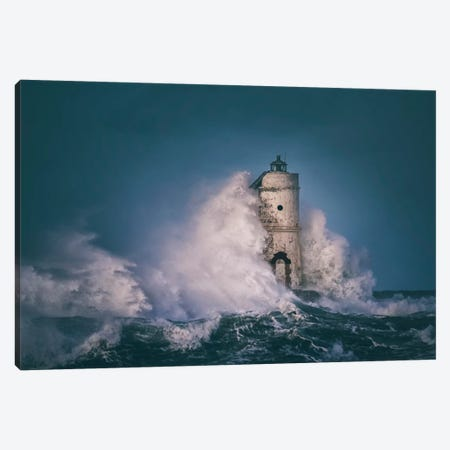 The Lighthouse Mangiabarche Canvas Print #OXM2960} by Daniele Atzori Canvas Art Print